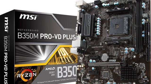 MSI anuncia B350M PRO-VD PLUS y A320M PRO-VD PLUS, dos placas base con socket AM4