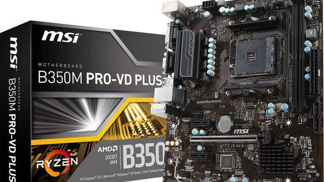 MSI anuncia B350M PRO-VD PLUS y A320M PRO-VD PLUS, dos placas base con socket AM4