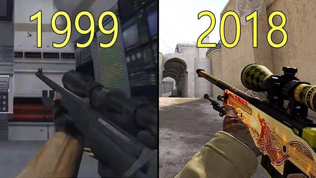 La evolución gráfica de Counter-Strike de 1999 a 2018