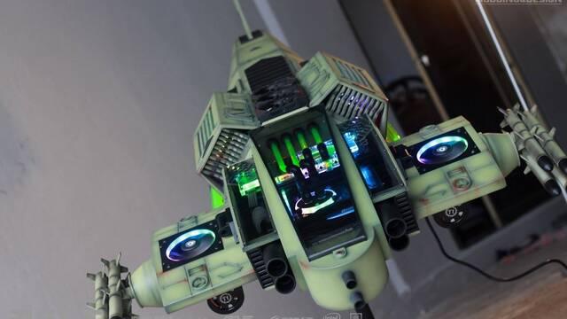 El PC Modding de los viernes: Un PC con forma de nave de combate espacial