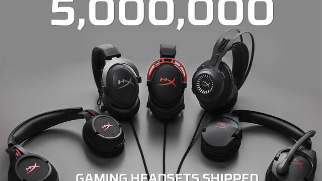 HyperX distribuye 5 millones de auriculares