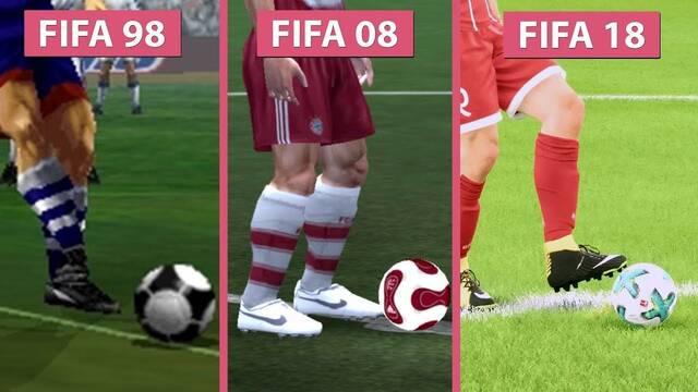 Comparan los gráficos de FIFA 98, FIFA 08 y FIFA 18 en un curioso vídeo