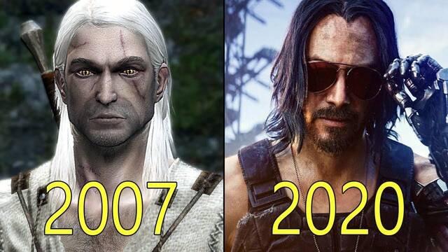 Actualizado: La evolución gráfica de CD Projekt: De The Witcher a Cyberpunk 2077