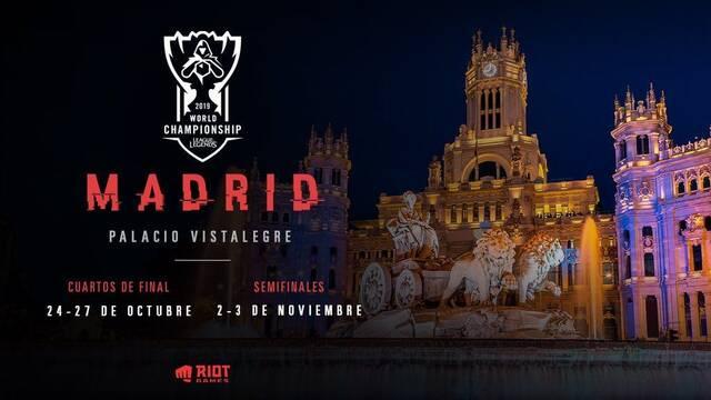 Worlds 2019: Madrid escogida como sede para celebrar el torneo de League of Legends