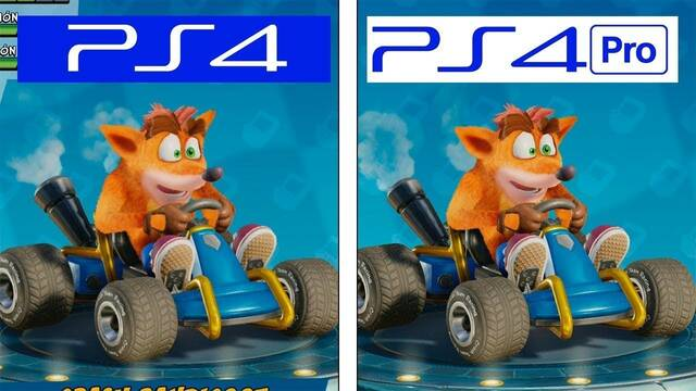 Comparativa gráfica: Crash Team Racing Nitro Fueled en PS4 y PS4 Pro