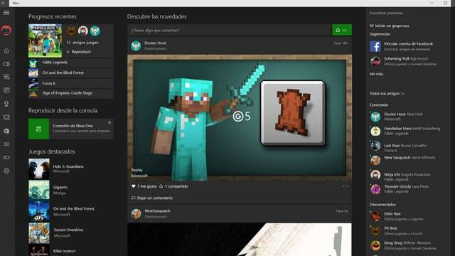 Compañero de la consola Xbox: Microsoft actualiza su app para Windows 10