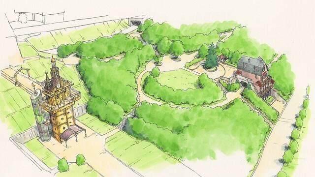El parque de atracciones de Studio Ghibli revela sus artes conceptuales