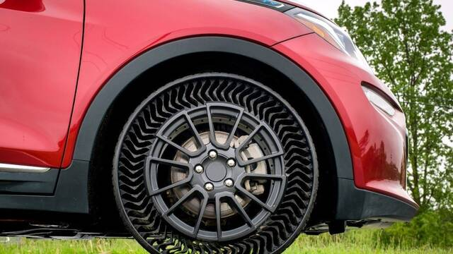 Michelin y General Motors anuncian su revolucionario neumático antipinchazos