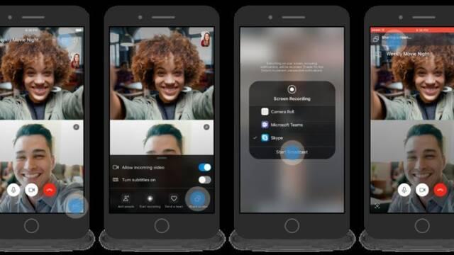 Skype ya permite compartir nuestra pantalla en iOS y Android