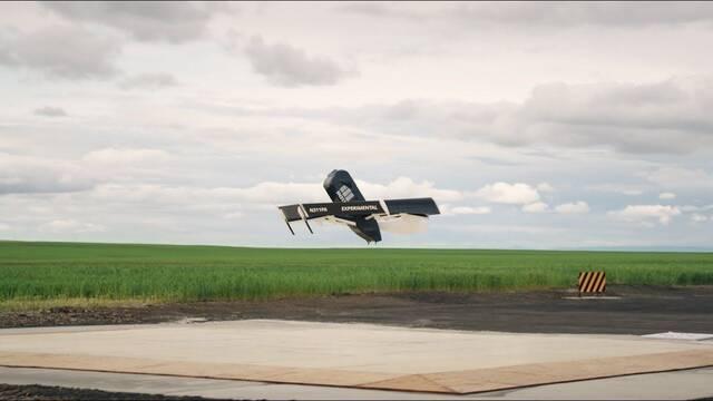 Así vuela el nuevo dron de reparto de Amazon: Prime Air