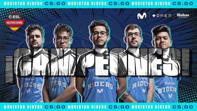 Movistar Riders se alza por segunda vez con la ESL Masters España de CS:GO