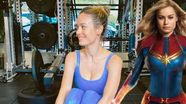 Captain Marvel 2: Brie Larson comparte su rutina de ejercicios en un nuevo vídeo