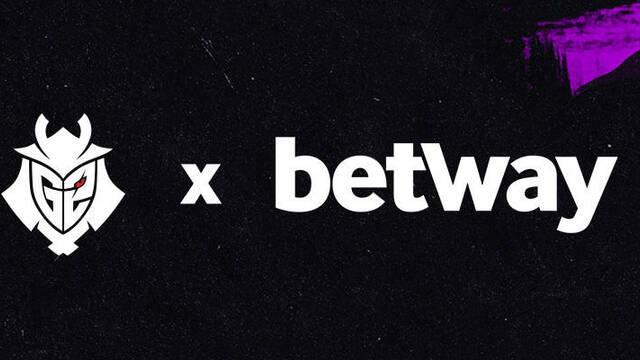 G2 Esports cierra un acuerdo de patrocinio con la casa de apuestas Betway