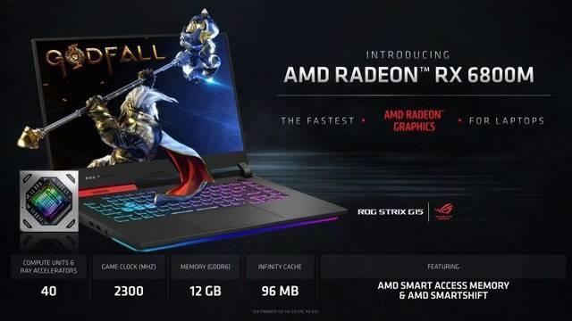 AMD presenta sus gráficas Radeon RX 6800M, RX6700M y RX 6600M para portátiles
