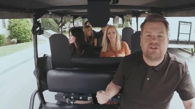 El reparto de Friends se sube al 'carpool' de James Corden en un divertido vídeo