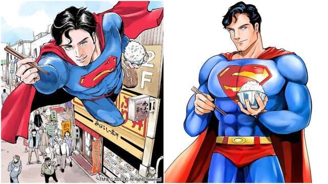 Superman disfruta de un bol de arroz en pleno vuelo en un nuevo cómic japonés