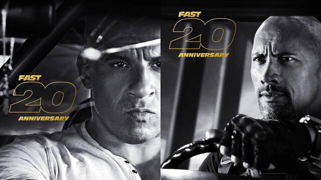 Fast & Furious celebra los 20 años de la saga con nuevos pósters de sus protagonistas