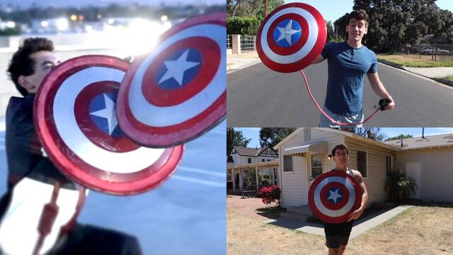 Fan del Capitán América recrea su escudo; rebota igual que el original
