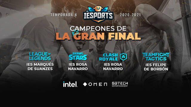La Cuarta Temporada de la Liga IESports finaliza con récords de participantes
