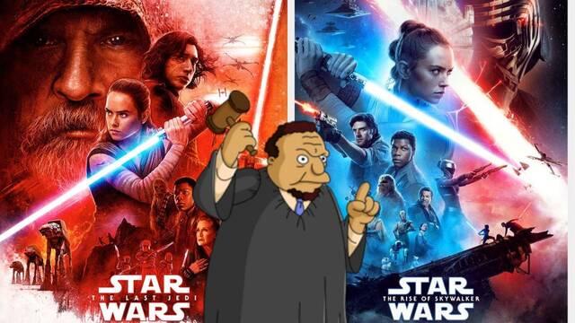 Star Wars: Un juez declara 'mediocres' Los últimos Jedi y El ascenso de Skywalker