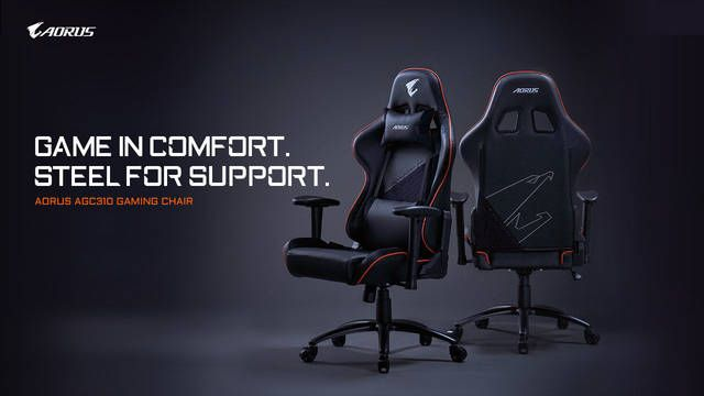 Gigabyte presenta su silla para jugadores Aorus AGC310