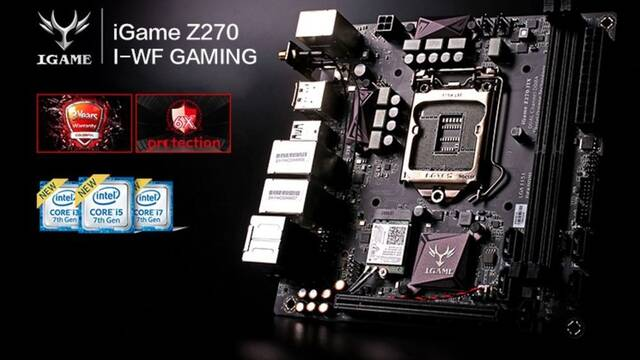 Colorful anuncia iGame Z270I-WF Gaming, una placa base Mini-ITX con Wi-Fi