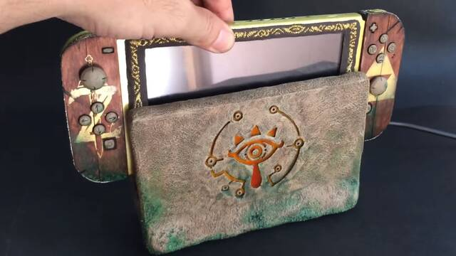 La Nintendo Switch inspirada en Sheikah perfecta para jugar al Zelda Breath of the Wild