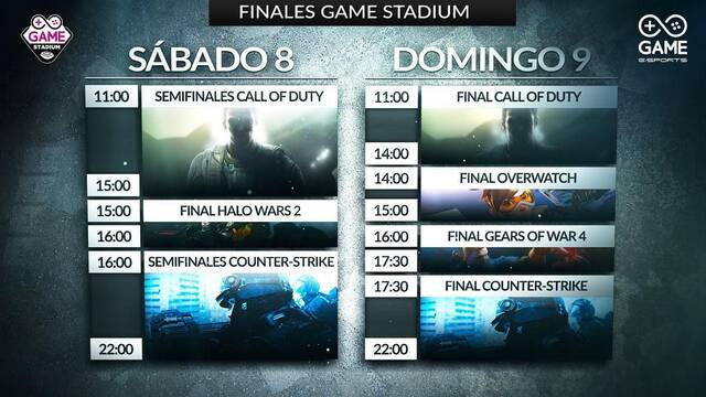 Sigue en directo las finales Game Stadium de CS:GO y Call of Duty