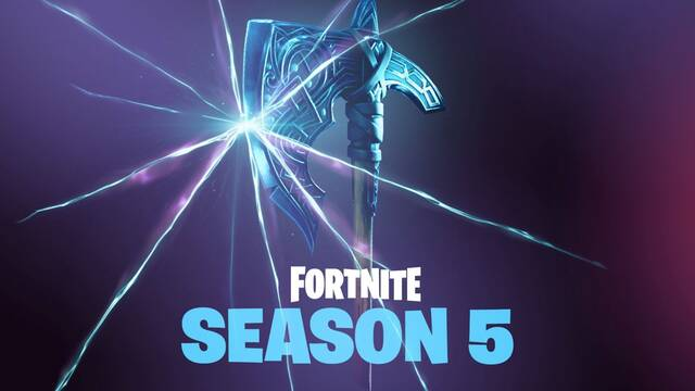 Nueva imagen de la quinta temporada de Fortnite, ¿un hacha vikinga?