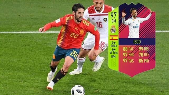 Isco Alarcón sube de nivel en FIFA 18 con motivo del Mundial
