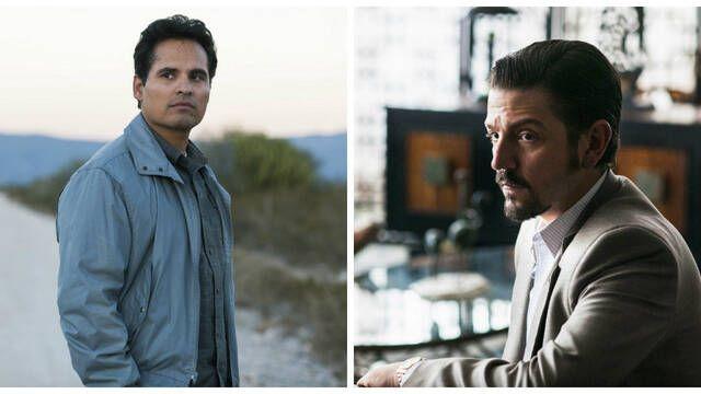 Diego Luna y Michael Peña se dejan ver en 'Narcos: México'