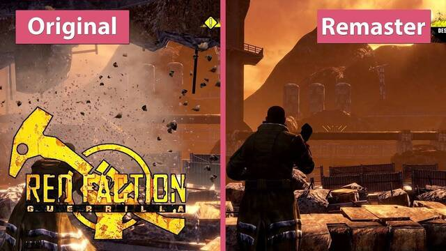 Comparativa gráfica: Red Faction Guerrilla original y Re-Mars-tered a 4K