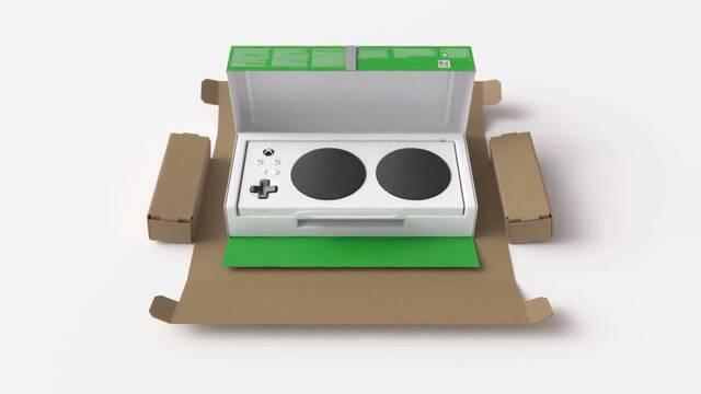 El embalaje del Xbox Adaptive Controller es tan accesible como el propio mando