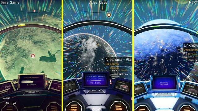 Comparativa gráfica: No Man's Sky, Atlas Rises y Next