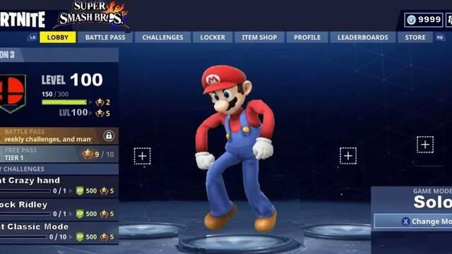 Así bailan los personajes de Super Smash Bros… en Fortnite