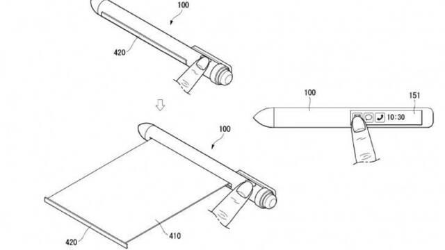 LG patenta un bolígrafo inteligente con pantalla flexible