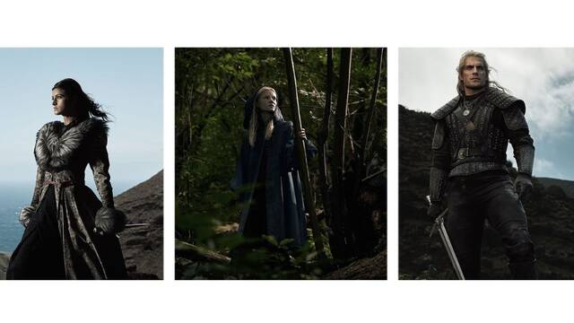 The Witcher: Imágenes del Geralt de Rivia de Henry Cavill, Yennefer y Ciri