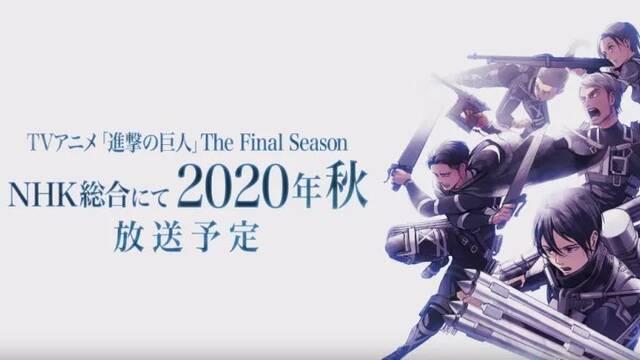 Preparaos: La temporada final de Ataque de los titanes llega en 2020