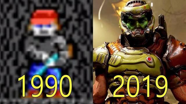 La evolución gráfica de los juegos de idSoftware de 1990 a 2019