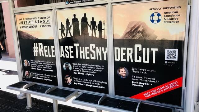 Comic-Con 2019: Aparecen carteles pidiendo el montaje de Zack Snyder de La Liga de la Justicia