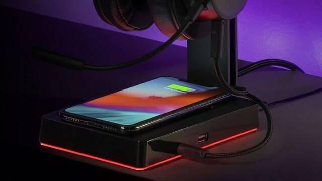 GS750, el soporte para auriculares que ofrece sonido 7.1 y carga inalámbrica para teléfonos