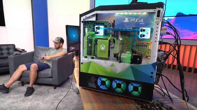 Así es el PC gaming con una PS4, una Xbox One y una Nintendo Switch en su interior