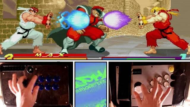 Un Pro de Street Fithter Alpha se pasa el modo cooperativo jugando con dos arcade stick