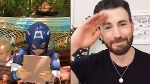 Chris Evans regala su escudo de Capitán América al chico que salvó a su hermana del ataque de un perro