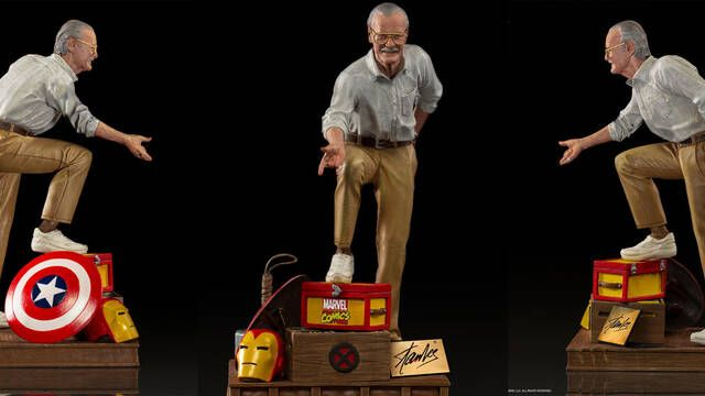 Stan Lee recibe una estatua escala 1/10 firmada por Iron Studios