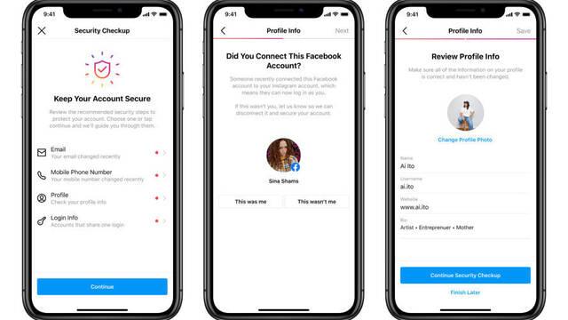 Instagram presenta Security Checkup, su función para saber si te han hackeado la cuenta