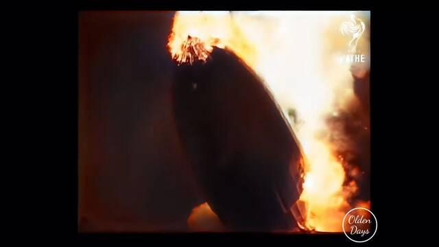 Accidente del Hindenburg: Las imágenes restauradas revelan cómo se salvaron los pasajeros