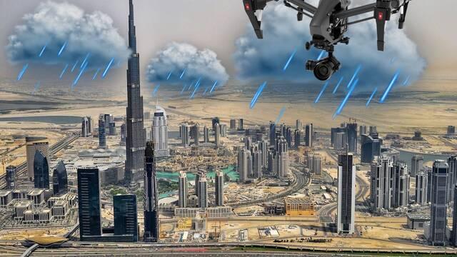 Emiratos Árabes está cambiando su clima con drones y descargas eléctricas