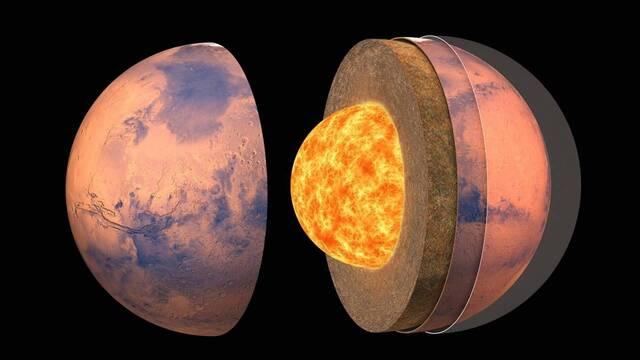 La NASA confirma que Marte tiene un núcleo líquido y metálico