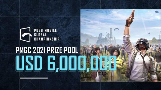 PUBG Mobile Global Championship 2021 repartirá 6 millones de dólares en premios